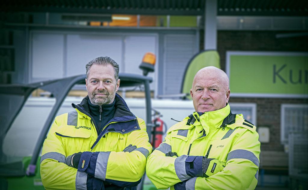 Håkan och Jan på Skanska Rental i Jönköping