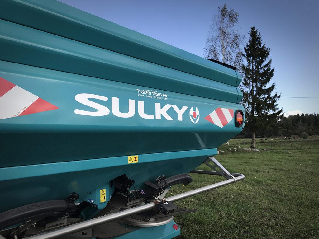 Sulky X50+ konstgödselspridare närbild Sulky