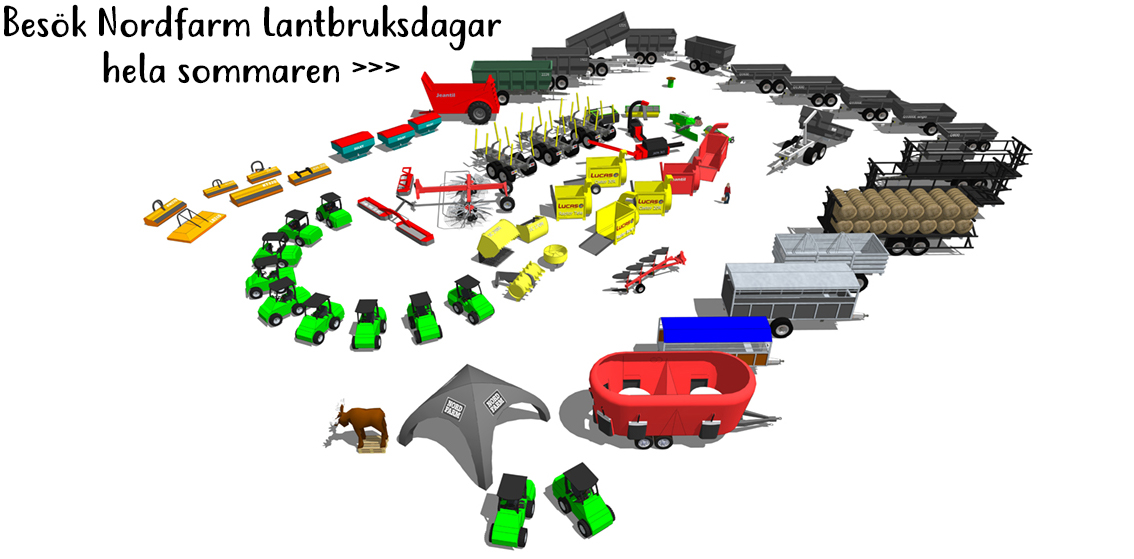 Nordfarm Lantbruksdagar mässkarta 2020